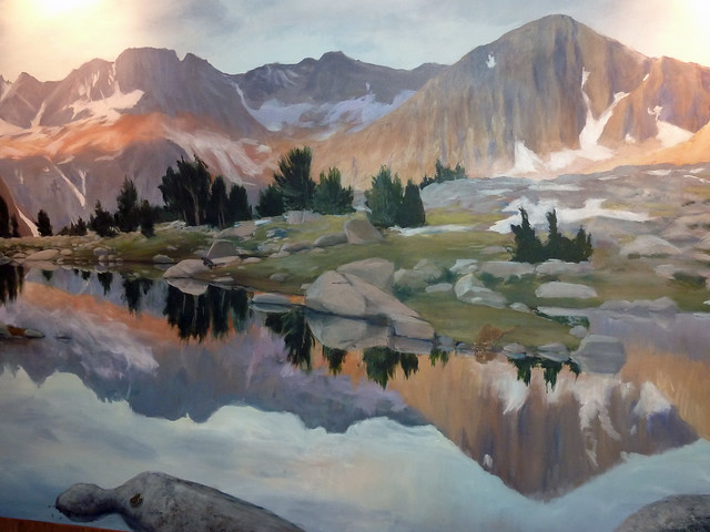 Kings Canyon painting inside the Grant Grove Visitor Center