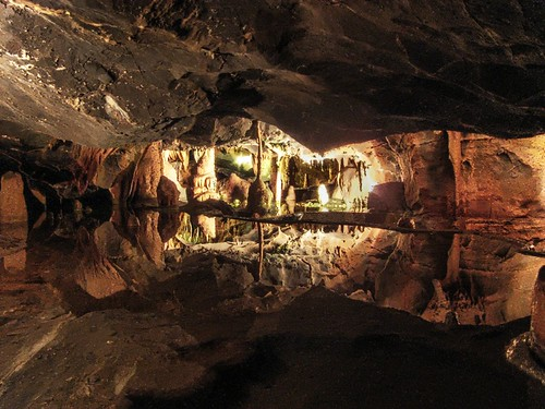 Cox Cave in Cheddar Gorge on the Mendip Hills in Somerset, England