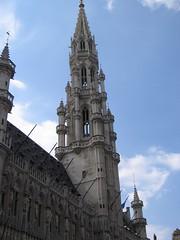 Tŵr y Stadhuis, Grote Markt, Brwsel