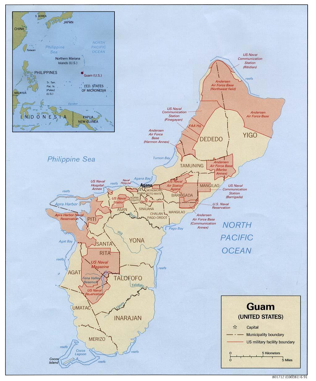 World Map Guam