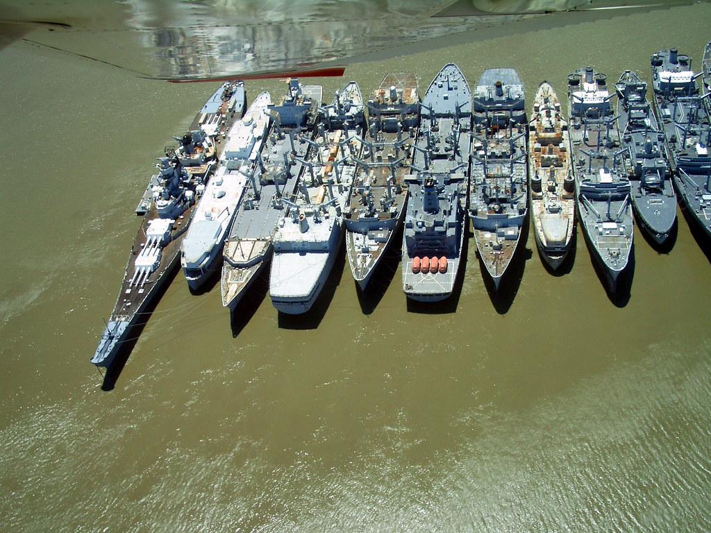 USS Iowa and Mothball fleet, Suisun Bay, California | Flickr
