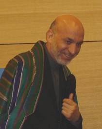 Hamid Karzai en Estrasburgo