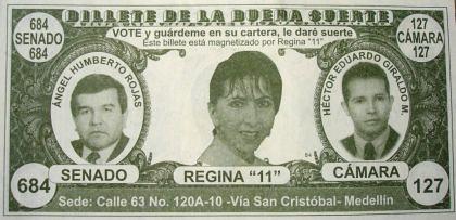 VOTE y guárdeme en su cartera, le daré suerte (Billete magnetizado por Regina 11)