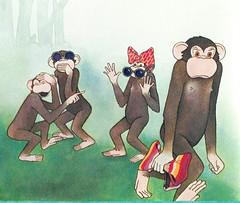bonobas enfadadas