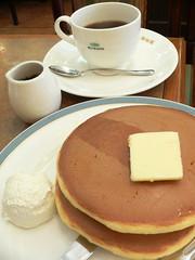 pancake in a coffee shop