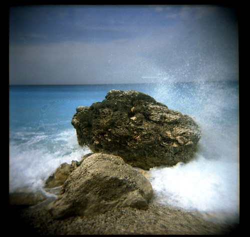 sea beach geotagged holga rocks greece lefkada geolat38678542 geolon20554733