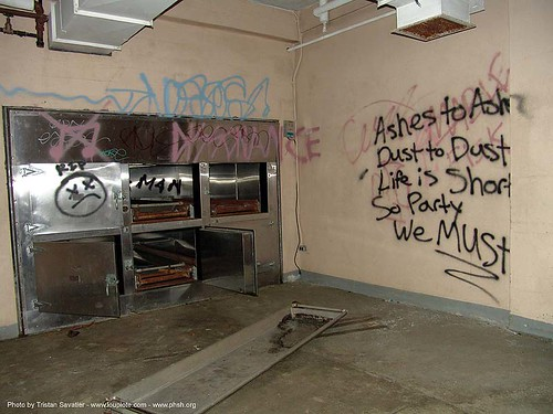 2696 - morgue freezer - Graffiti - Abandoned Hospital (Presidio, San Francisco) | by loupiote (Old Skool) pro