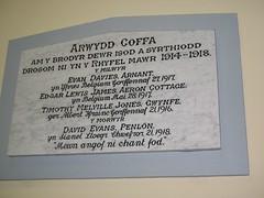 Cofeb, Neuadd Llwyncelyn, Ceredigion