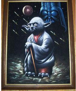 YodaVelvetPainting
