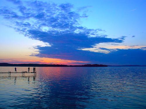 Lake Mendota at sunset