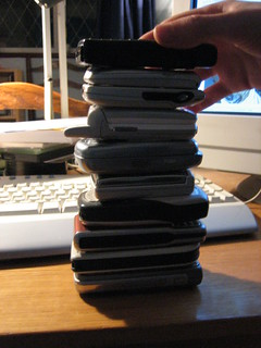Stack of phones | by nedrichards