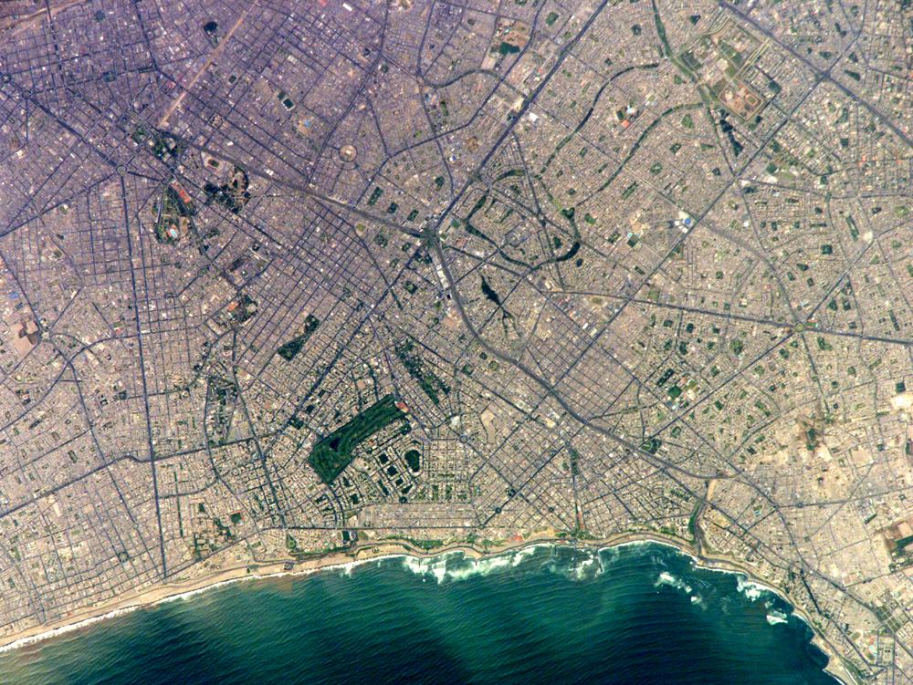 Lima desde el satélite