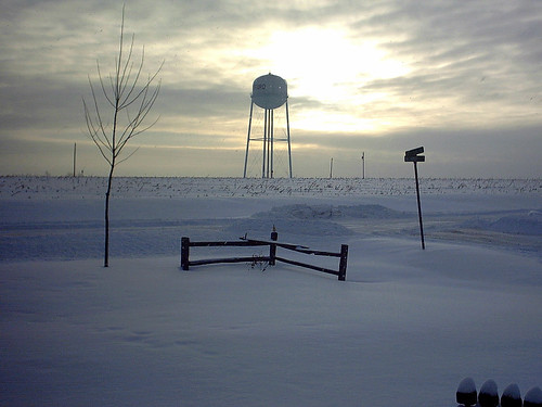 calm winter sunrise hartford iowa scenery nature