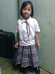 chantelle in her CSR uniform