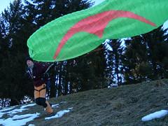 Hervé taking off