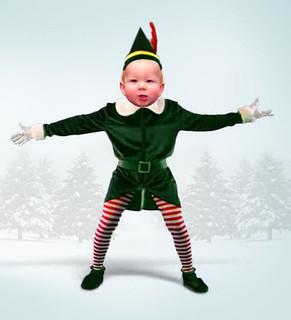 Oscar's Christmas elf dance