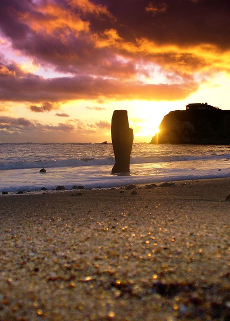 Freshwater Bay Sunset, Isle of Wight - That golden moment