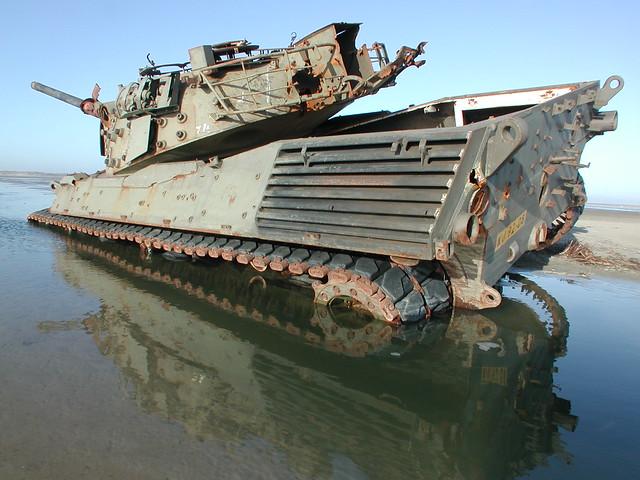 CSK tank gunnery range target - Vliehors - Vlieland