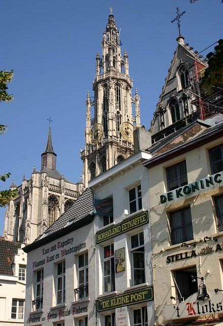 Steeple of the Cathedral of Our Lady, near Groenplaats, Antwerp