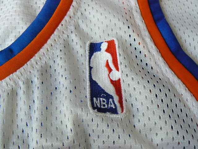 cheaper f5a09 0ab87 20070304 John Starks #3 Knicks Jersey: NBA logo | close-up o ...