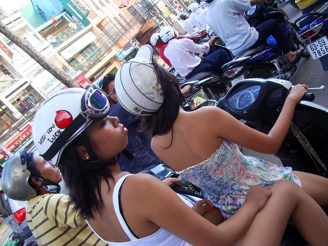 Girls on Scooter, Saigon