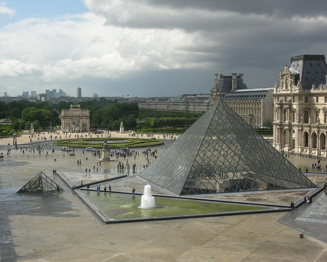 Courtyard of the Louvre, Paris (screen)