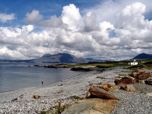 ocean ireland beach water clouds renvyle