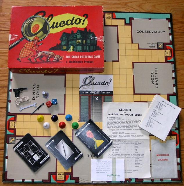 Woddington's Cluedo Game: 1949 Small Box Edition