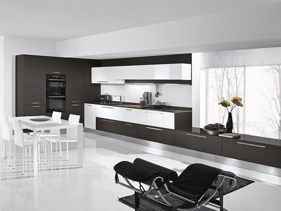 Cucina in rovere grigio e bianco | Cucina angolare moderna f ...