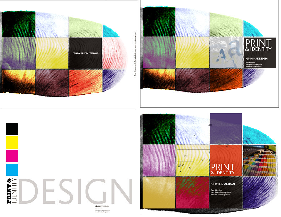Print PDF portfolio cover