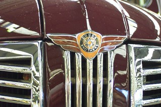 1938 Dodge D8 sedan grille badge