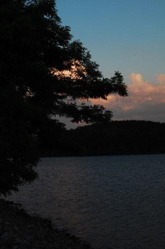 blue trees sunset sun lake tree water river nikon d40 rhodhiss catawaba catawabariver