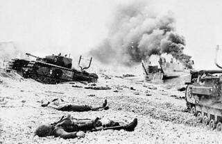 Scene of death and desolation following Operation Jubilee, Dieppe, France, August 19, 1942 / Scène de mort et de désolation après l'opération Jubilee, Dieppe, France, 19 août 1942