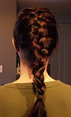 French Braided my own hair! | by melodramababs