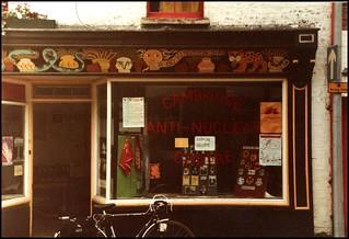 Cambridge 1982: anti-nuclear centre