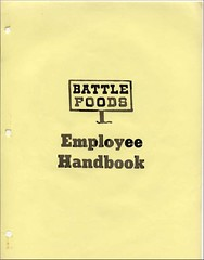 Battle Foods Employee Handbook Cover | by johntrainor