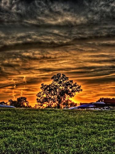 sunset oklahoma grandlake hdr aplusphoto