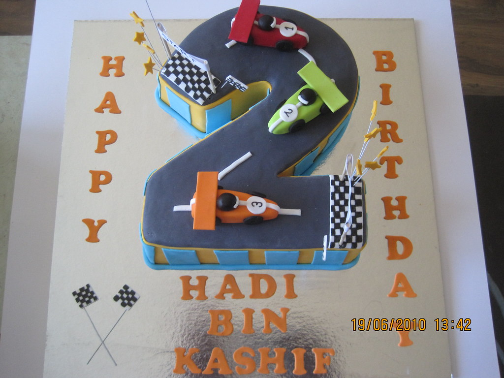 Peachy Racetrack No 2 Cake Huma Khurshed Flickr Funny Birthday Cards Online Aboleapandamsfinfo