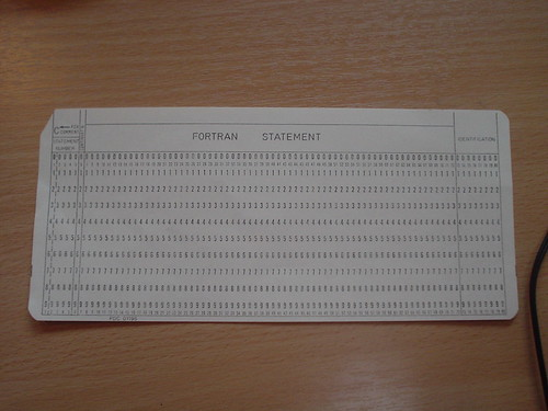 Fortran statement card | by natmorris