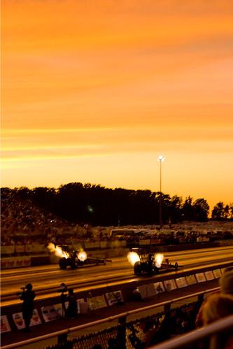 sunset ohio norwalk summit nitro dragracing powerade raceway dragstrip nhra topfuel