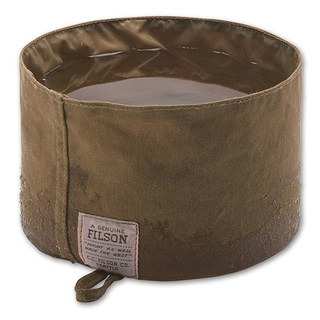 Filson waxed, collapsible dog bowl