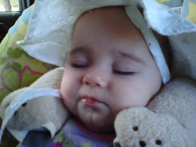 She fell asleep pouting