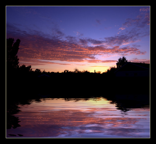california ca trees sunset sky orange lake reflection water rain clouds photoshop purple sandiego flood elcajon fake el ripples cajon flamingpear colorphotoaward