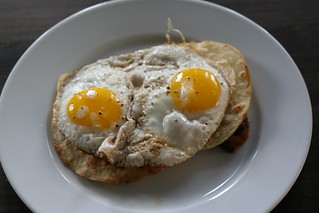Heuvos Rancheros Step 2: Eggs | by Tom Purves