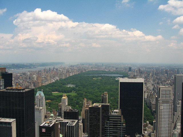 From the top of the Rockerfeller tower thing