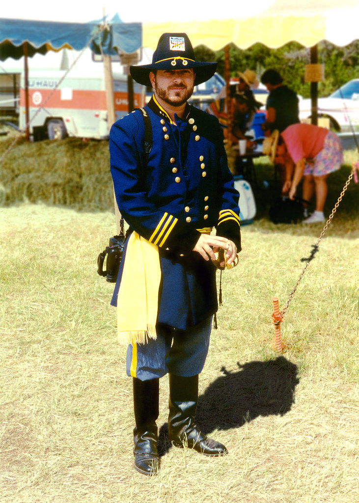 Union Officer, Civil War reenactment,Granbury | A union offi