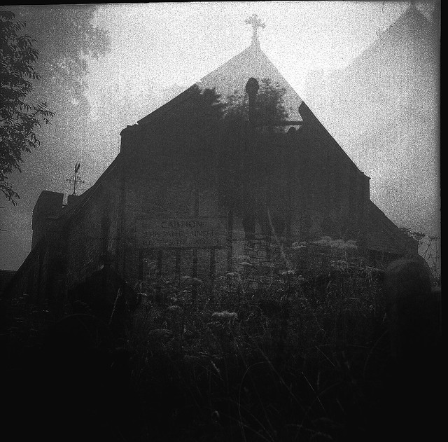 3 x Exposed X-Pro Penderyn Church - 1932 Voigtlander Brilliant