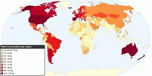 Current Worldwide Meat Consumption per capita
