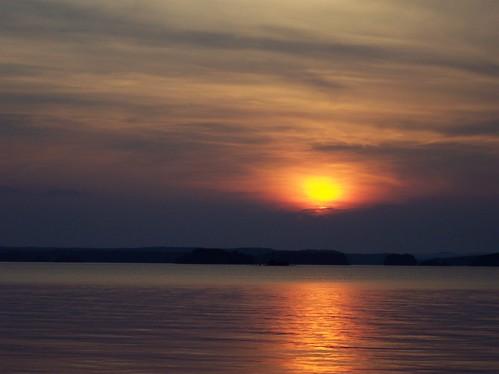 sunset lake clouds arkansas degray thebiggestgroup baronsquirrel