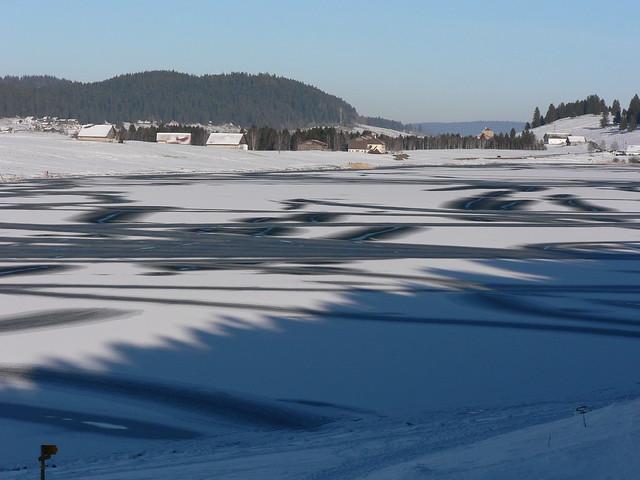 Lac des Taillières gelé
